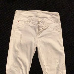 White Hudson jeans with pockets